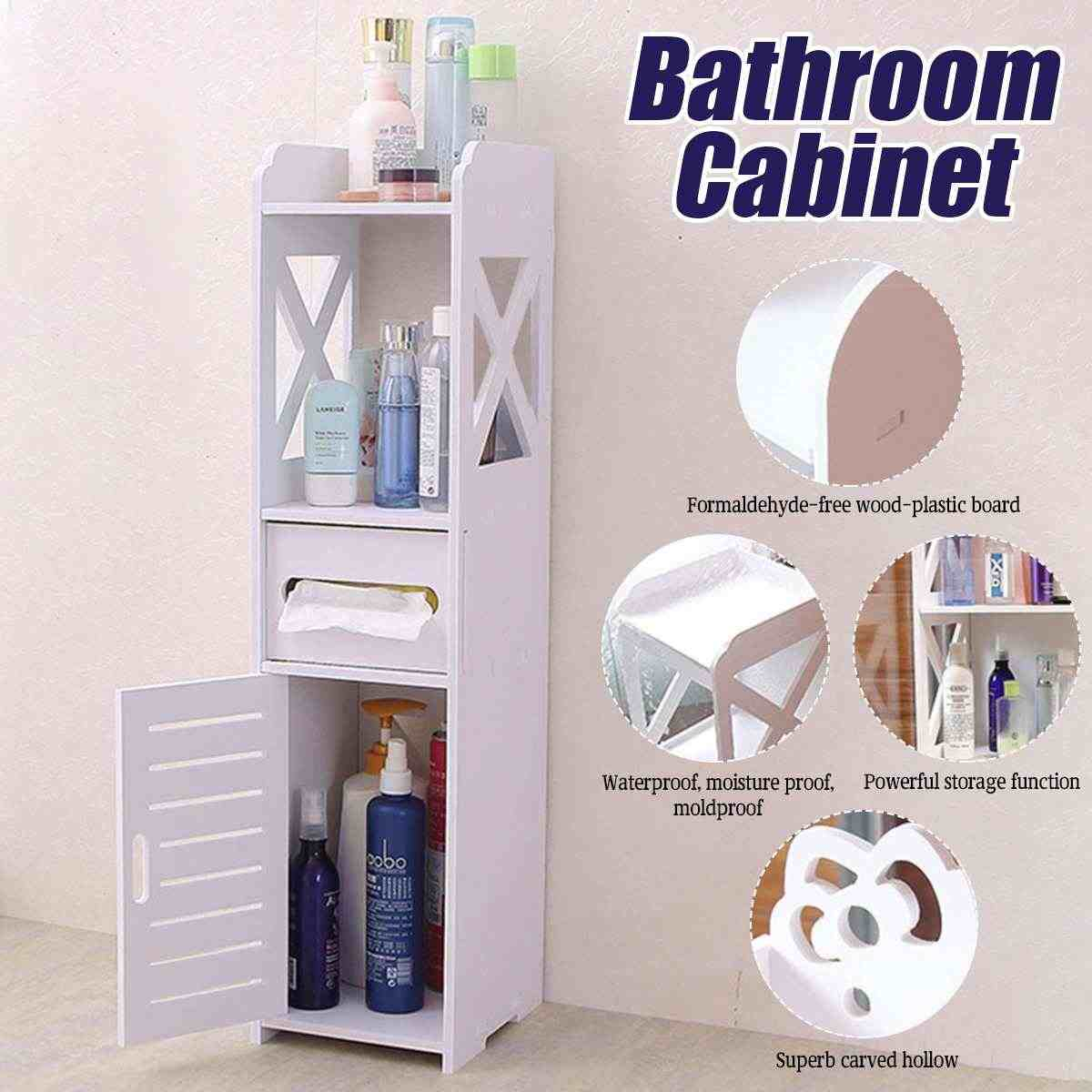 Wasserdicht Schrank Badezimmer Regal Boden Organizer Rack Stehend Mit  Tissue Schubladen Vier Schichten Anti-korrosion WPC