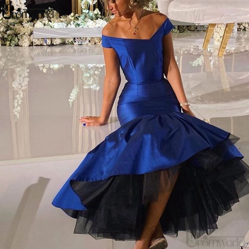 Royal Blue Prom Dresses Long 2020 Mermaid Elegant Party Maxys Prom Gown V-neck Backless Evening Dress Vestidos De Gala