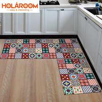 Alfombra de cocina de 1 pieza, más barata, antideslizante, alfombras de área modernas, sala de estar, balcón, baño, alfombra estampada, felpudo geométrico para pasillo