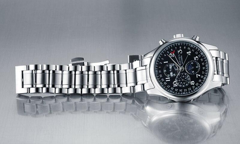 H2dc3a3b2e83d48ebb59b55d93416a8b4Q GUANQIN Relogio Masculino Automatic Mechanical Men Watches Waterproof Calendar Moon Leather Wristwatch otomatik erkek saat
