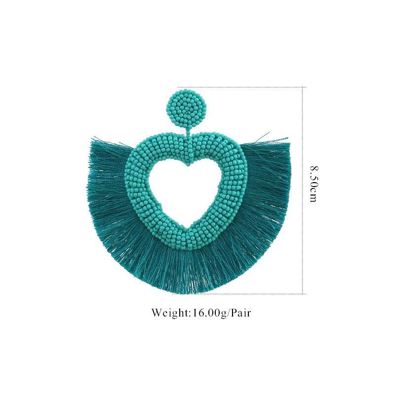 Tassel Boho Earrings For Women Fashion Jewelry Bohemian Star Gifts Face African Dangle Drop Boho Earings Long Punk Vintage New (1)