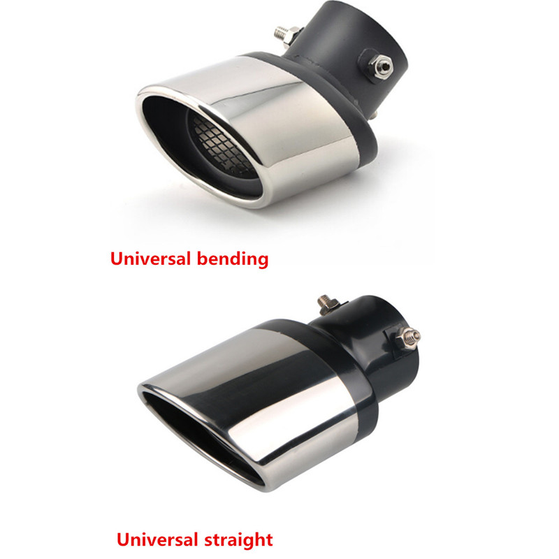 Universal Car <font><b>Exhaust</b></font> Muffler Car Tail Throat Liner Pipe for Volkswagen <font><b>VW</b></font> <font><b>Golf</b></font> <font><b>4</b></font> 6 7 GTI Tiguan Passat B5 B6 B7 CC Jetta Polo image