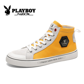 PLAYBOY New Men Casual Shoes Skateboarding Shoes High Top Sneakers Sports Shoes Breathable Walking Shoes Street Shoes PZ2930004
