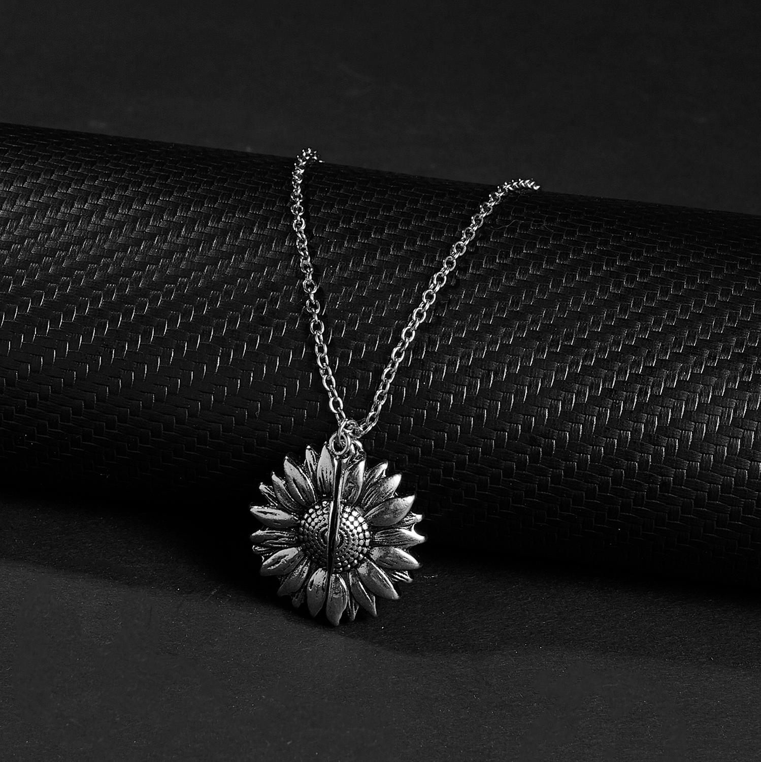 Sunflower Necklace | You Are My Sunshine Pendant 3