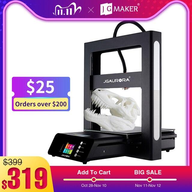 JGMAKER JGAURORA 3D Printer A5 Updated A5S Full Metal Diy Kit Extreme High Accuracy Large Print Size 305x305x320mm Impressora 3d