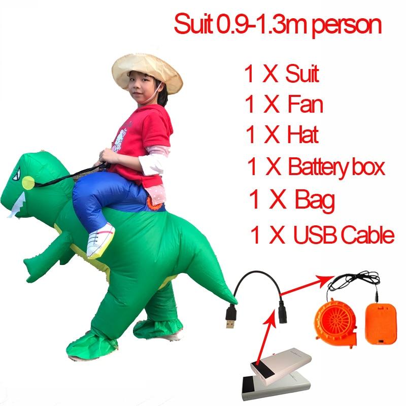 Jurassic World 2 Velociraptor Costume Inflatable T REX Dinosaur Costume Halloween Cosplay Adult Fantasy Raptor Mascot Costume (5)
