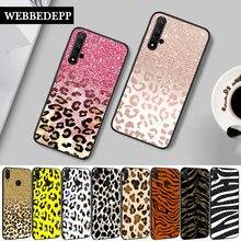 56w luxo brilho bling folha leopardo silicone caso para huawei honor 6a 7a pro 7x 8 lite 8x 8c 9 9x nota 10 ver 20