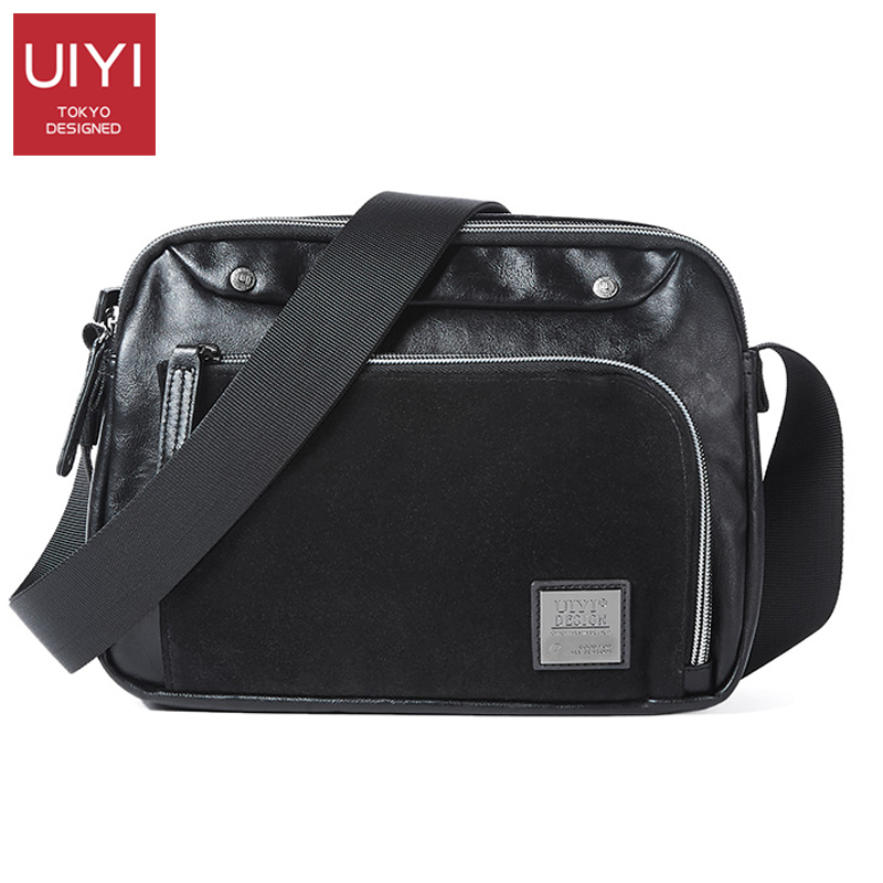 UIYI Handbag Messenger-Bags Crossbody-Bag Design Brand Fashion Business PVC Casual Men