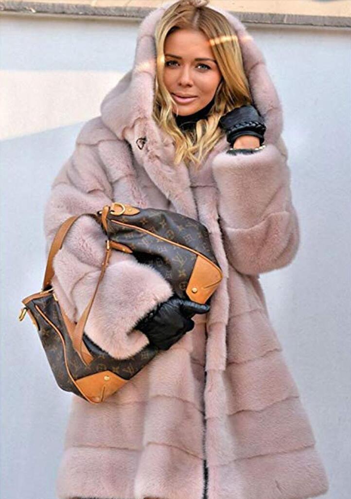 Winter Coat Women Large Fur Collar Hooded Long Jacket Thick Warm Korean Padded Parka Oversized Military Parka