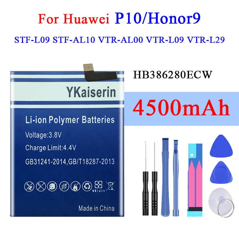 סוללה עבור Huawei Ascend P10/כבוד 9 STF-L09 STF-AL10 VTR-AL00 VTR-L09 VTR-L29 4500mAh ליתיום פולימר סוללות HB386280ECW