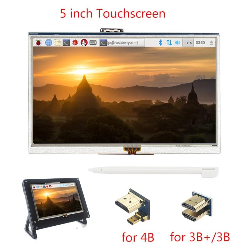 Raspberry Pi 4 Model B 5 Inch Touchscreen TFT HDMI 800x480 Display LCD Touch Screen For Raspberry Pi 3 Model B+/3B PC Laptop
