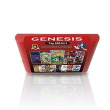 Новая популярная игровая карта 2G 200 в 1 для видеоигровой консоли Sega Genesis MD 100 топ поколение игр + 100 топ мастер системных игр