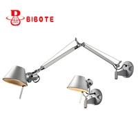 Modern Swing Long Arm Adjustable Flexible Wall Lights AC90 260V Silver Eye Protection Living Room Bedroom Bedside Wall Lamp