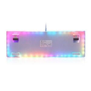 Image 4 - MOTOSPEED Teclado mecánico K87S para videojuegos teclado de juegos por cable, personalizado, LED RGB retroiluminado con 87 teclas para lol cf