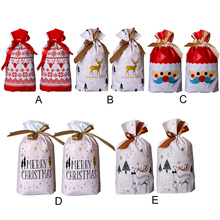 Behogar 50pcs Christmas Gift Bag Plastic Candy Cookie Treat Bags