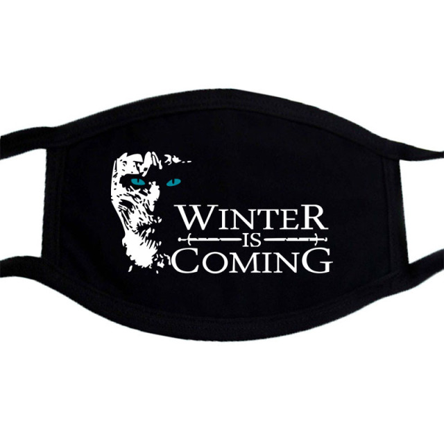 Dust Mask game of thrones And viking Casual Masks Black Warm Mask Festive Party Winter Dustproof Face Mask Kpop Cool Mask 2