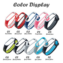 Silicone Sports Strap For Xiaomi 3 4 Bracelet Two-color Universal