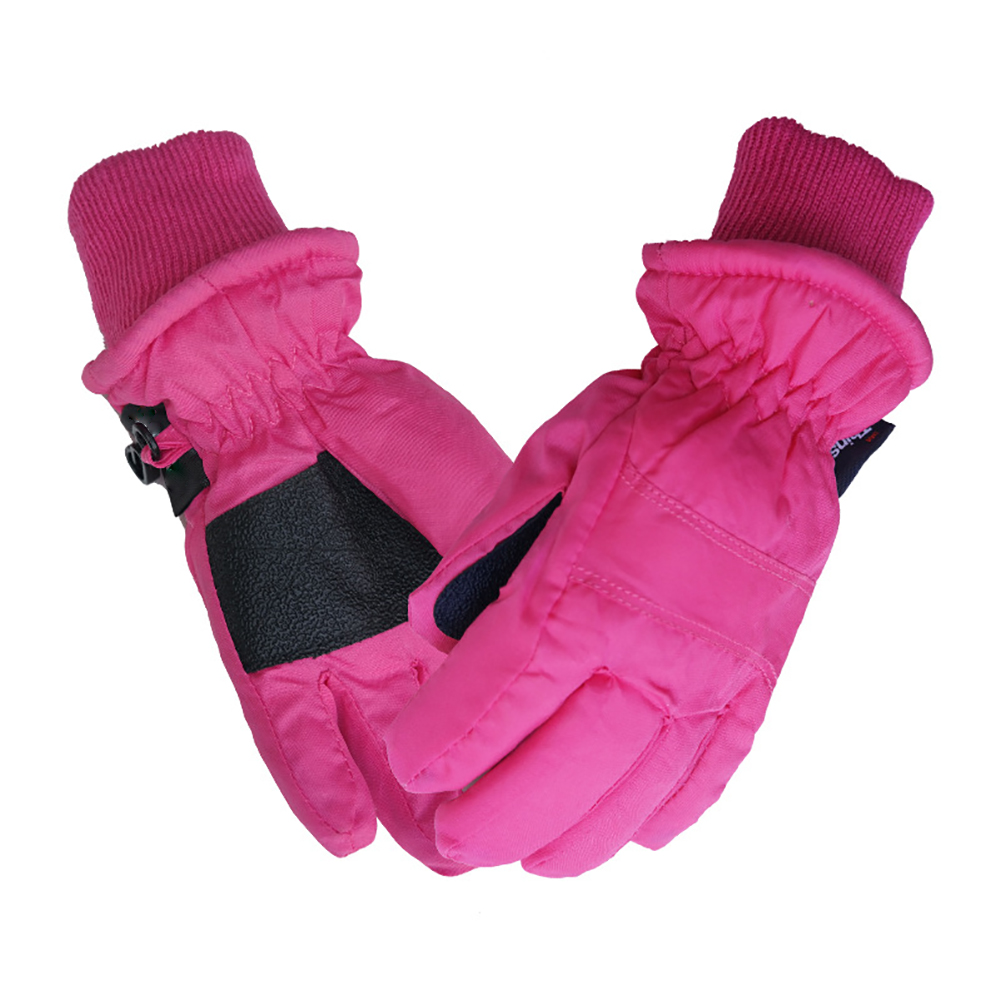 1 Pair Windstopper Skiing Gloves Waterproof Snow For Children Winter Thermal Sports Riding Unisex Skating Accessories Warm