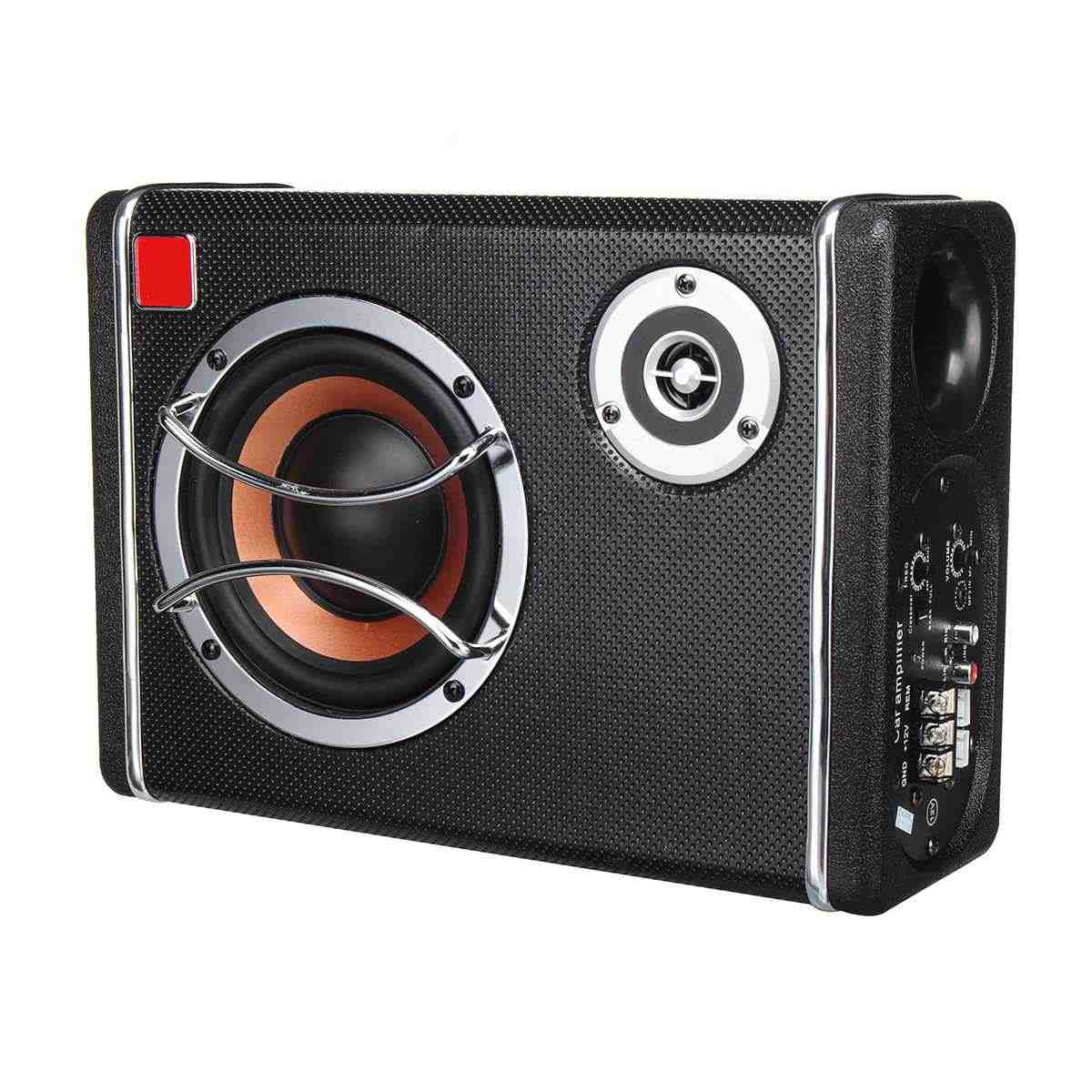 6inch 400W Active Powered Car Audio Subwoofer Stereo Bass Speaker Amp Sub Box 12V Car Subwoofers Car Audio Car Speaker