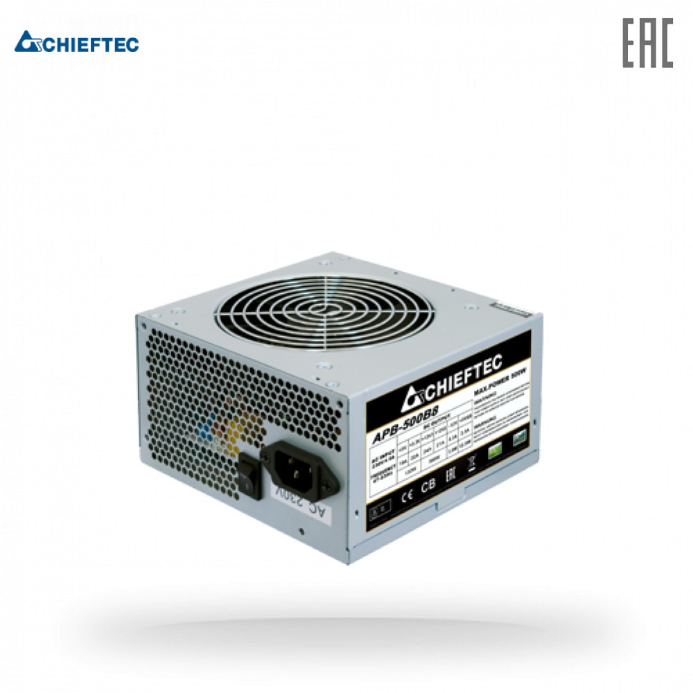 Блок питания Chieftec APB-500B8 500W ATX 12V 2.3 PSU,w/12cm Fan,active PFC. OEM