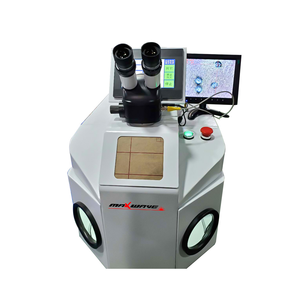 Silver Welding Pendants Machine Laser For 200W Rings With CCD Denture YAG System Gold Jewelry