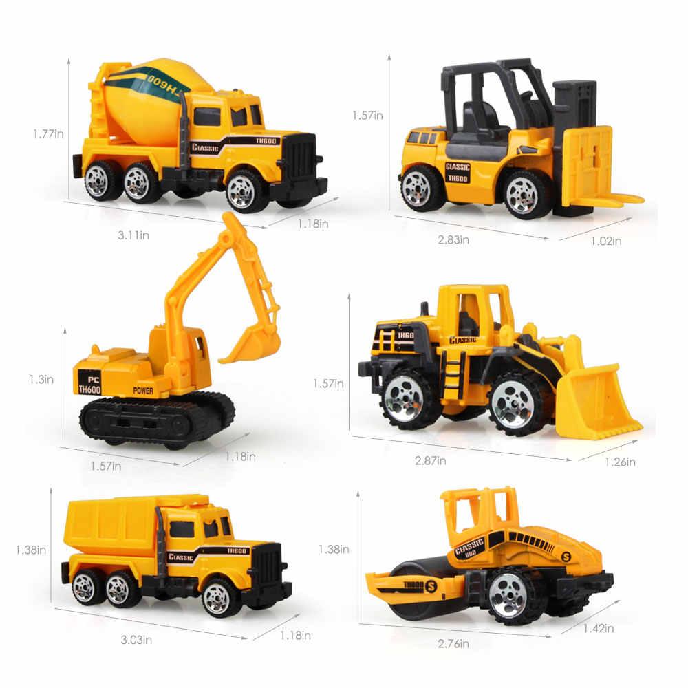 1: 64 Mini Pressofuso In Lega Auto Ingegneria Discarica Camion Escavatore Veicoli Modello di Auto Giocattoli Educativi per I Bambini Del Ragazzo Regalo