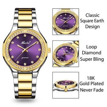 שעון גולדפילד 18K איכותי לאישה