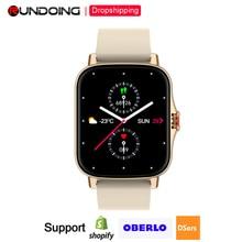 "FM08 שיחת Bluetooth חכם שעון 1.69 ""מלא מגע מסך גשש כושר קצב לב צג GTS 2 Smartwatch עבור אנדרואיד iOS"
