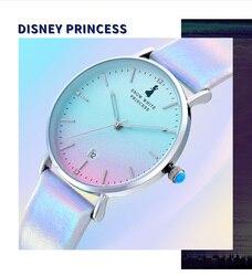 Дисней часы девушка Корейский простой темперамент водонепроницаемый Мори колледж Стиль градиент девушка студенческие часы