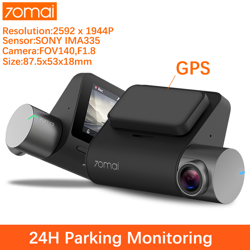 70mai Pro Dash Cam Dvr Carro Traço Cam 1944P camera carro GPS ADAS 70 mai Pro Dashcam camera veicular 24H Estacionamento de Controle de Voz WI-FI Monitor de Traço Vehicle Camera title=