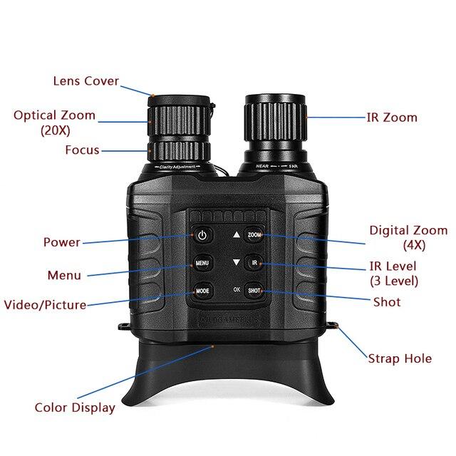 WG550B 500M HD Night Vision Binoculars Cameras 20×31 Telescope Hunting Optical 850nm IR HD Night Vision Binocular Night Goggles 2