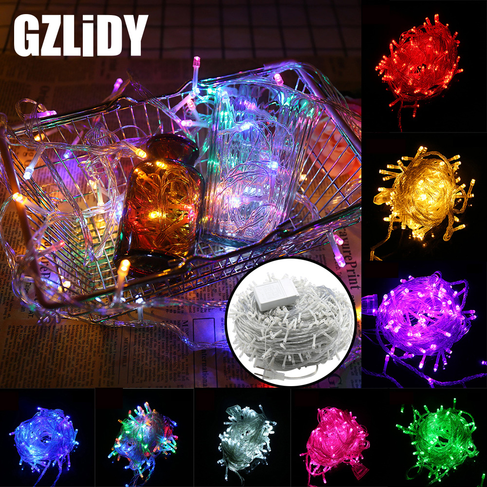 10M 20M 30M 50M LED String Fairy Light Holiday Patio Christmas Wedding Decoration AC220V Waterproof Outdoor Light Garland