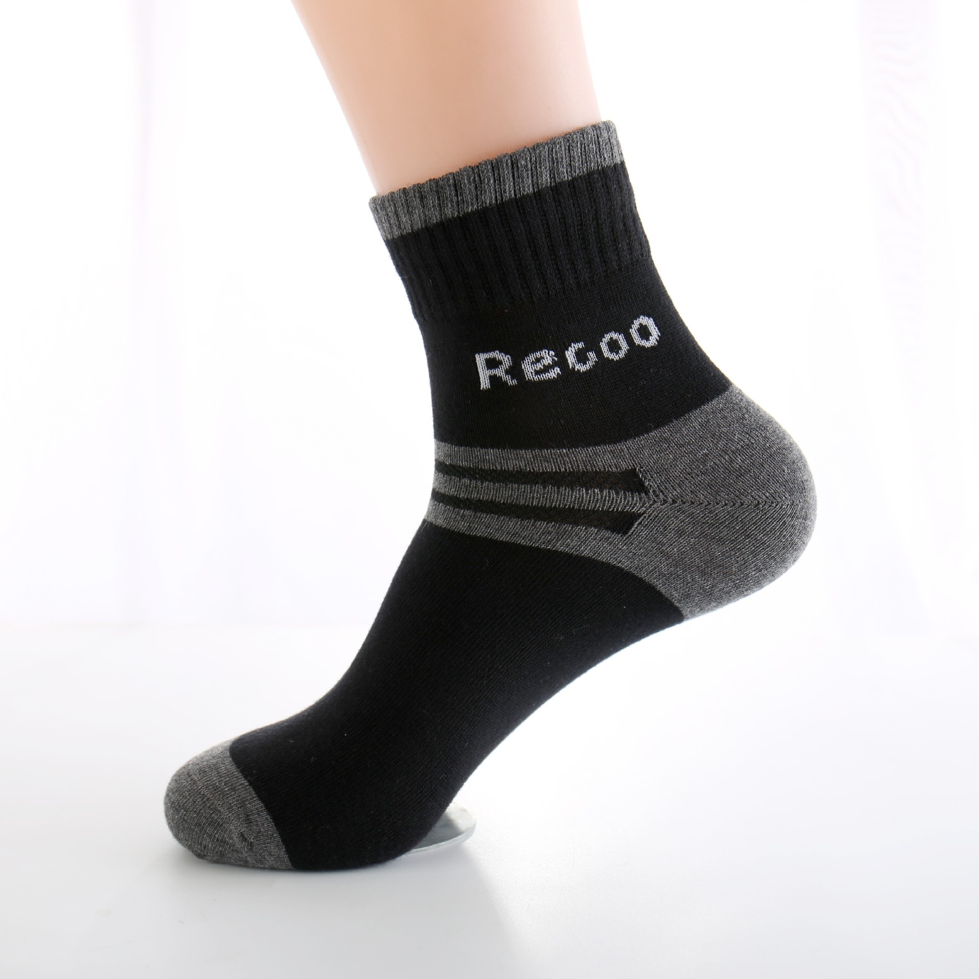 Men's sports socks autumn and winter striped cotton socks sweat-absorbent breathable men's socks suitable for daily and outdoor