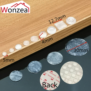 Image 2 - Cabinet Door Bumper of various size of silicone material for kitchen cabinet self adhesive damper pad for door stopper