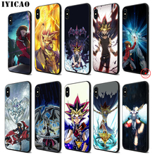 IYICAO Yu gi oh Anime Soft Black Silicone Case for iPhone 11 Pro Xr Xs Max X or 10 8 7 6 6S Plus 5 5S SE