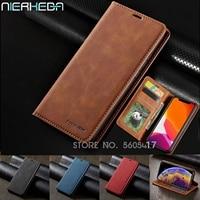 Custodia in pelle a vibrazione magnetica retrò per iPhone 12 Mini 11 Pro Xs Max XR X 8 7 6 6s Plus 5s SE 2020 porta carte portafoglio custodia