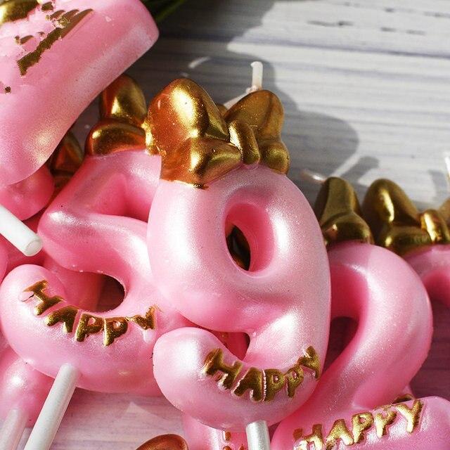 Numer świeczka tortowa materiały urodzinowe ozdoba na wierzch tortu 0 1 2 3 4 5 6 7 8 9 rocznica cyfry na tort wiek świeczka strona dekoracji