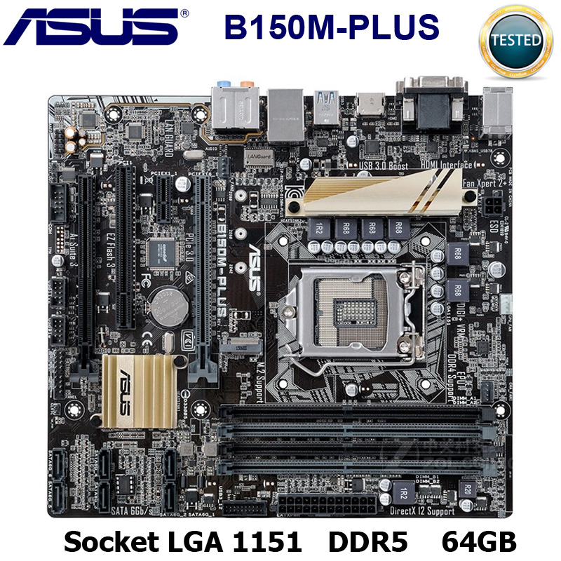 LGA1151 B150M-PLUS Motherboard USB3.0 PCI-E3.0 SATA3.0 For ASUS B150M-PLUS Original Used Desktop For Intel B150 Motherboard DDR4