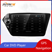 JIUYIN Android Car DVD Player GPS Navigation For Kia k2 RIO 2010 2011 2012 2013 2014 2015 Car Radio Stereo GPS  Central Multimid quadcore 2din car dvd gps android 8 0 9 inch for kia rio k2 2012 2013 2015 2016 radio tape recorder navigation multimedia stereo