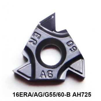 Tungaloy 16ER A60 G60 AG60 A55 16ERA60-B 16ERAG60-B 16ERG60-B 16ERAG55-B AH725 Threading Lathe Cutter Tools Carbide Inserts