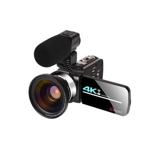 KOMERY 4K Video Camera Camcorder Touch-Screen Digital-Zoom Live-Streaming-Vlogging Night-Vision