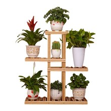 Multi-layer Wooden Plant Rack Multi-layer Garden Rack Display Rack High And Low Anti-corrosion Small Flower Rack Floor Type