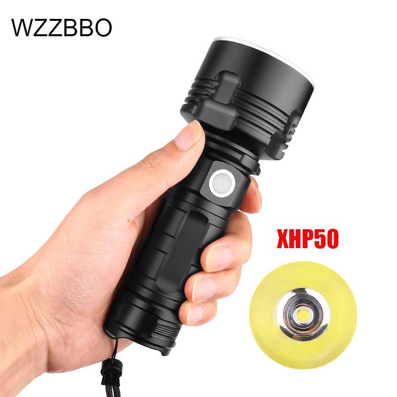 Купить супермощный светодиодный фонарик xhp50 водонепроницаемый ультраяркий