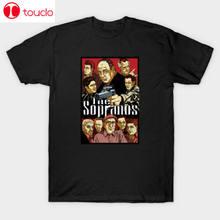 Mafia os sopranos crime tv mostrar tony soprano preto camiseta presente para os fãs