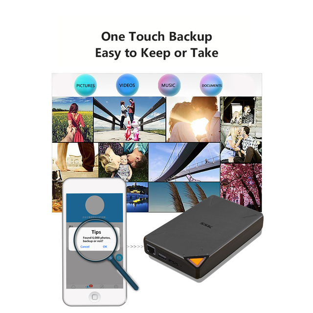 Business Travel Portable device External Wireless Hard Drive