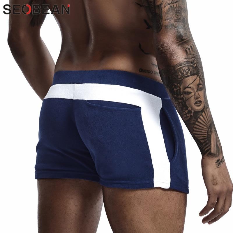 New Lounge Shorts Men Pajamas Bottoms Men's Sleepwear Shorts Cotton Soft Fashion Simple Home Pants Indoor Fitness Shorts