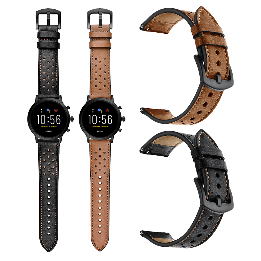 High Quality Genuine Leather Watchband For Fossil GEN 5 Strap Band For Fossil Sport 43mm GEN 4 Smart Watch Bracelet Correa