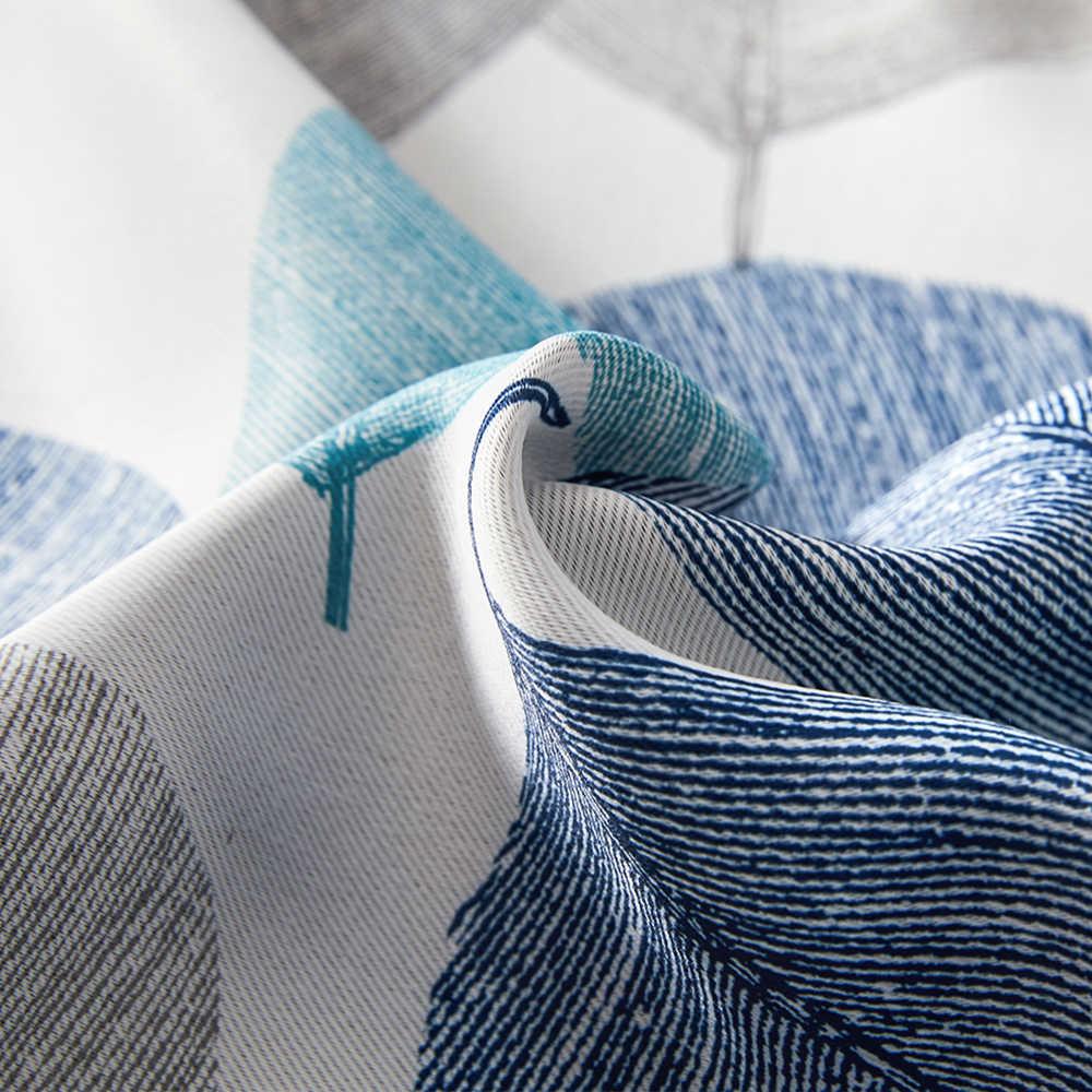 CDIY ดอกไม้ผ้าม่านสำหรับห้องนั่งเล่นห้องนอนโมเดิร์นม่านหน้าต่างสำหรับผ้าม่านห้องครัวหนาผ้าม่านแรเงา 85%