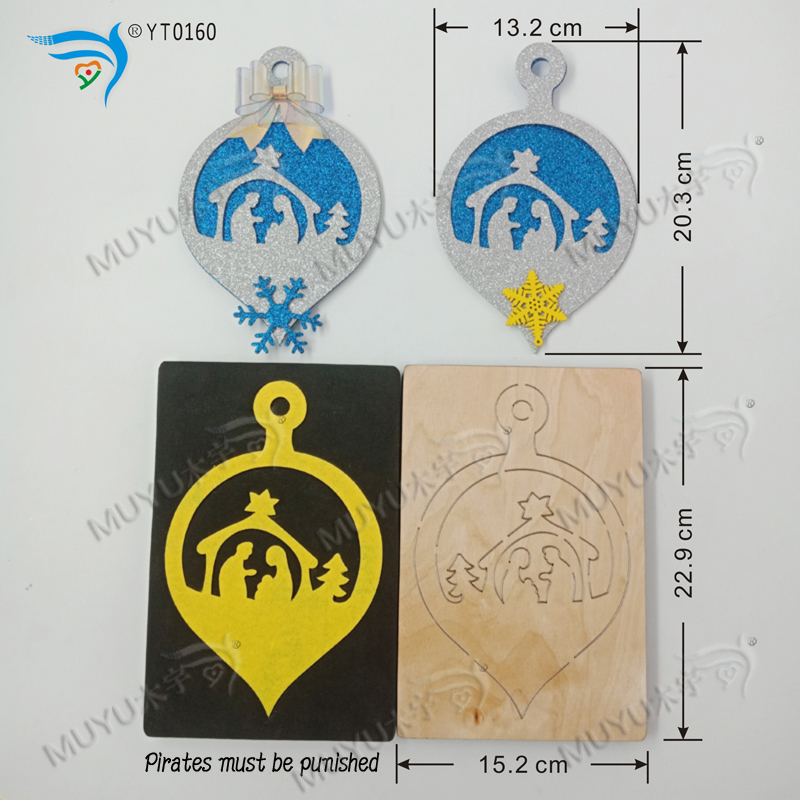 Decorative Bells-3 DIY New Wooden Mould Cutting Dies For Scrapbooking Thickness/15.8mm/YT0160