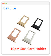 BaRuiLe 10pcs SIM Card Tray for iphone 6 6S Plus 7G 7P 8 8Plus SIM Card Holder Slot Adapter Repair Replacement Parts